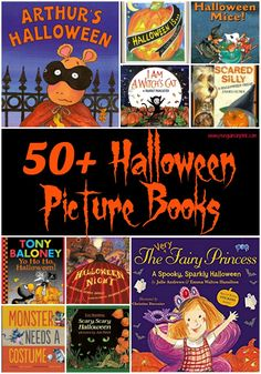 These Picture Halloween books are perfect for read-alouds and for beginning readers to practice reading. The books range from Preschool to grade with a few grade level books. Halloween Books For Kids, Halloween Movies, Halloween Pictures, Holidays Halloween, Scary Halloween, Halloween Crafts, Halloween Decorations, Kindergarten Activities, Book Activities
