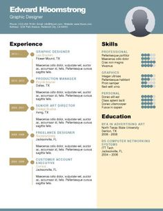 Artistic FlyerFree Resume Template by HloomcomStuff to Buy