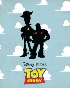 ALIYA L: Toy Story Minimalist Poster