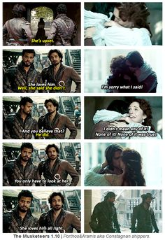 The Musketeers 1x10   Porthos & Aramis aka Constagnan shippers.