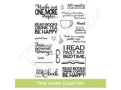 TRS One More Chapter Clear Stamp set by ThreeRoomStudio on Etsy