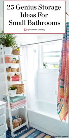 A bathroom doesn't have to be big to have great style and function. To us, a small space means a fun challenge when it comes to storage and design, which is why we've rounded up some of our favorite small bathrooms from our most recent house tours to give you inspiration to beautify your bathroom.