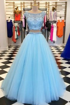 long prom dresses - Sexy Two Pieces Cowl Heavily Beaded Blue Long Evening Prom Dresses, Cheap Sweet 16 Dresses, 18443 Short Sleeve Prom Dresses, Cute Prom Dresses, Trendy Dresses, Homecoming Dresses, Blue Dresses, Dress Prom, Dress Long, Short Sleeves, Long Dresses