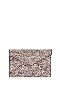 1a0bb9104 Glitter Leo Clutch by Rebecca Minkoff The textured Leo Clutch is the  perfect sidekick for a night out. It features interior credit card slots so  you don't ...