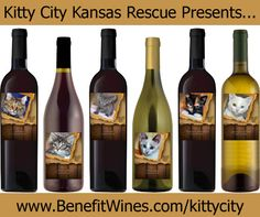 Cat label wine, purchase helps benefit Kitty City Kansas Rescue!