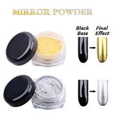 2g Magic Mirror Proszek Złota Srebra Pigment Brokat Do Paznokci Nail Art Chrome DIY Dekoracji Paznokci Narzędzia