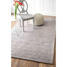 You'll love the Touchstone Woolen Cable Light Gray Area Rug at Wayfair - Great Deals on all Rugs  products with Free Shipping on most stuff, even the big stuff.
