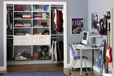 Home Office - home organization experts NJ- www.contemporaryc... #NewJersey #Closets #Homeorganizarion