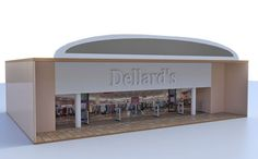 3D large retail mall section for Poser and DAZ Studio is part five of five.
