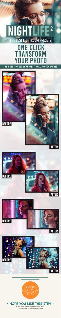 5 NightLife - Lightroom Presets - Photo Effects
