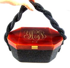 Vintage Beaded Lucite Purse