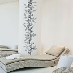 Wall Decal Layers of Leaves - ideal to create a relaxed atmosphere in your living room - just $9.95 on selected colors!