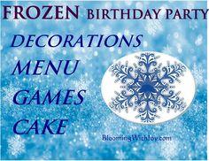 frozen birthday party idea tip menu food games