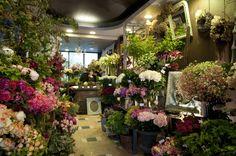 Georges François, boutique de fleurs à Montparnasse モンパルナスの花店、ジョルジュ・フランソワ