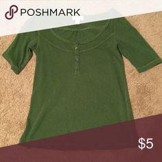 Hunter Green Loft Top 3/4 long sleeve, cotton Loft top. LOFT Tops Tees - Long Sleeve