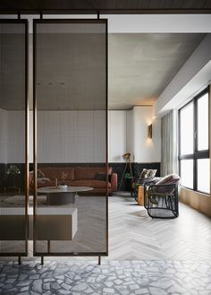 Natural Home Decor Gallery of Palimpsest of Life / HAO Design - Home Decor Gallery of Palimpsest of Life / HAO Design - 12 Living Room Partition, Room Partition Designs, Partition Ideas, Glass Partition Wall, Partition Screen, Glass Room Divider, Room Divider Screen, Divider Design, Divider Ideas