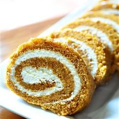 "Grandma Carol's Pumpkin Roll | ""This recipe reminded me so much of my grandmother's pumpkin roll recipe. It was really light and fluffy, and not dry at all. """