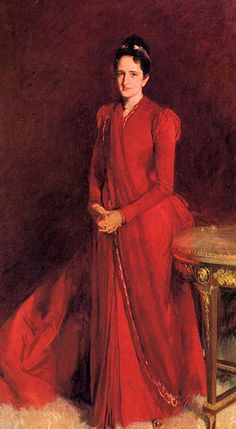 Mrs. Elliott Fitch Shepard (Margaret Louisa Vanderbilt) by artist John Singer Sargent. He also painted the formal portrait of the family of the 9th Duke of Marlborough and Consuelo Vanderbilt, Mrs. Shepherd's niece.