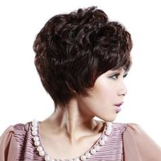 FREE GIFTS!! Hand Tied Short Curly Mixed Hair Wig with UVP Antimicrobial Net *free ship