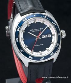 Montre Hamilton Pan Europ Day-Date cadran bleu - bracelet cuir - Bsaelworld 2014 http://www.thewatchobserver.fr/photos-montres/photos-redaction/montres-hamilton-nouveautes-baselworld-2014-219?thumb=3#display