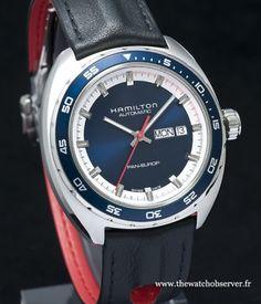 Montre Hamilton Pan Europ Day-Date cadran bleu - bracelet cuir - Bsaelworld 2014 http://www.thewatchobserver.fr/photos-montres/photos-redaction/montres-hamilton-nouveautes-baselworld-2014-219?thumb=3#display