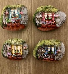 Something different... #rockpainting #rock #rocks #rockart #stoneart #stonepainting #pebblepainting #garden #shutterwindows #flowers