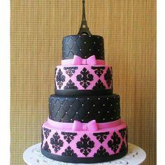 ideas for birthday cake girls paris party themes 12th Birthday Cake, Birthday Cake Girls, Birthday Cupcakes, Paris Birthday, Fancy Cakes, Cute Cakes, Beautiful Cakes, Amazing Cakes, Bolo Paris