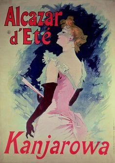 Folies Bergere 1891 Kanjarowa French Singer Vintage Poster Retro Art Print Artist Jules Cheret Free US Post Low European Postage by VintagePosterPrints on Etsy Art Nouveau, Art Deco, Vintage French Posters, French Vintage, Vintage Art, Poster Vintage, Vintage Decor, Poster Art, Poster Prints