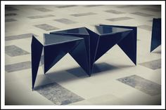 Origami Bench - Student work by Yvonne, Clarisse & Tuck for Publika Shopping Mall.