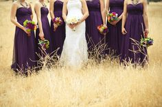 purple. and bouquets