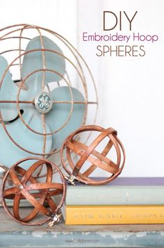 DIY Embroidery Hoop Spheres by @LollyJaneBlog | Home Decor Ideas