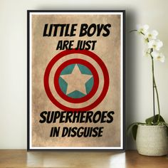 Superhero Kids Poster  Marvel Comics  Gift by TheWatermelonFactory, £10.00