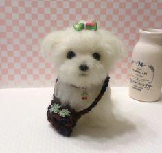 Needle felt  Needle felting dog Needle felted dog  by FeltTale, $160.00