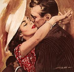 "the-art-of-romance: "" Ay mi amor - Mauro Scali "" Romance Vintage, A Fine Romance, Vintage Love, Vintage Art, Vintage Kiss, True Romance, Pulp Fiction Art, Pulp Art, Vintage Couples"
