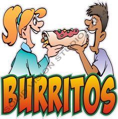 "24"" Burrito Concession Trailer Mexican Restauant Food Truck Cart Stand SIgn Decal #SolidVisionStudio Glennora@aol.com"
