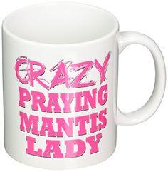 3dRose mug_175240_1 Crazy Praying Mantis Lady Ceramic Mug 11Ounce ** Want to know more, click on the image.