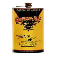Flasks 63505: Greaze All Stainless Steel Flask Retro Kustom Kulture Gearhead Novelty Flasks -> BUY IT NOW ONLY: $33 on eBay!