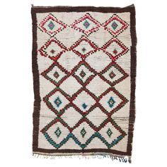 Vintage Moroccan Azilal Berber Rug | From a unique collection of antique and modern moroccan and north african rugs at https://www.1stdibs.com/furniture/rugs-carpets/moroccan-rugs/