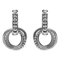 Women's Lagos 'Link' Circle Drop Earrings (3.929.695 IDR) ❤ liked on Polyvore featuring jewelry, earrings, silver, dangle earrings, dangling jewelry, lagos, drop dangle earrings and circle earrings