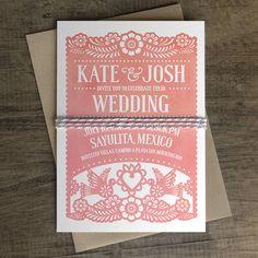 Papel Picado Wedding Invitation Papel Picado Suite by iinviteyou