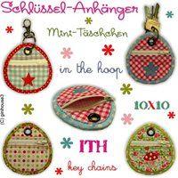 ★ Schlüsselanhänger ★ Mini-Täschchen ★ key chain ★ 10x10 - ginihouse3. EUR 8.00