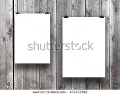 #Stock #photo: #two #blank #frames on #monochrome #wooden #background #shutterstock