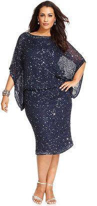 Patra Plus Size Kimono-Sleeve Beaded Dress $229.00 thestylecure.com