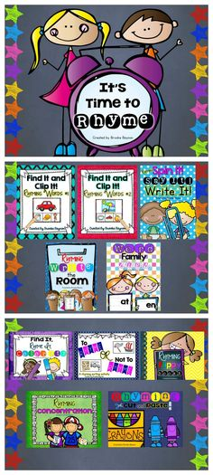 It's Time to Rhyme BUNDLE - 10 packs of fun, engaging rhyming activities for little learners. $