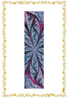 Loom beading pattern Bracelet cuff Abstract door DiushesPatterns
