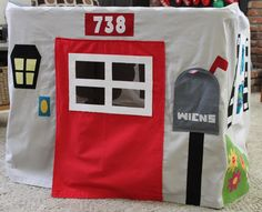 Live a Colorful Life: a card table cover makes it into a playhouse! Brilliant!