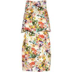 Pink floral print double layer bodycon dress - bodycon dresses - dresses - women