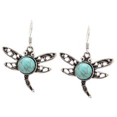 Vintage dragon fly torquise earrings Brand new with tags ✨Material:Alloy✨ Quantity:1 pair ✨ Color: torquoise, silver,black✨expect fast shipping  Any questions please ask please check out my other listings✨ 10% off on bundles buy more  save more  Jewelry Earrings