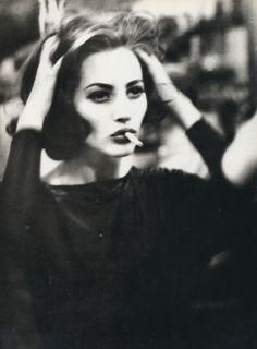 """Vogue Italia February 1990 """"Belladonna"""" Model: Christy Turlington Photographer: Ellen von Unwerth"""