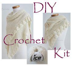 Hey, I found this really awesome Etsy listing at https://www.etsy.com/listing/202170541/diy-crochet-kit-crochet-shawl-kit-ashley